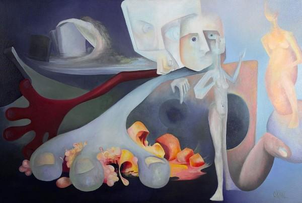 Self  Portrait Diptych - Emergence